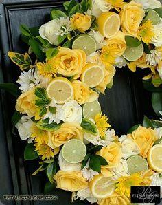 **Yellow citrus wreath