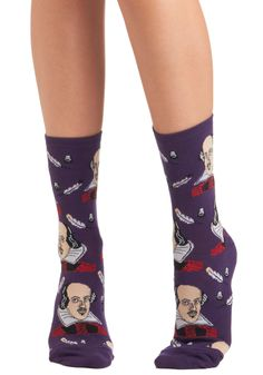 Toe-meo and Juliet Socks. We present you two socks, both alike in dignity. #purple #modcloth