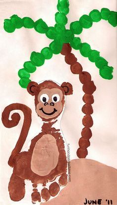 Love Being Moms!: A-Z Zoo Animals Preschool Unit cutest zoo crafts that I think we will turn into wall art!We Love Being Moms!: A-Z Zoo Animals Preschool Unit cutest zoo crafts that I think we will turn into wall art! Zoo Crafts, Diy Party Crafts, Monkey Crafts, Monkey Art, Animal Crafts For Kids, Tree Crafts, Baby Crafts, Toddler Art, Toddler Crafts