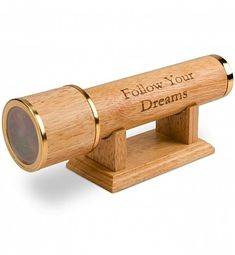 A handsome desktop accessory engraved with your meaningful message, this classic wood kaleidoscope provides a moment of relaxation and playfulness in the home or office.