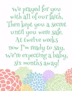 9 Fun and Simple Pregnancy Announcement Ideas I love this! Of course I'd choose a different background but the poem is perfect for our Rainbow someday! Rainbow Baby Quotes, Pregnancy Quotes, Pregnancy Announcement Poems, Baby Pregnancy, Baby Announcements, Expecting Baby Quotes, Pregnancy Diets, Pregnancy After Miscarriage, Erwarten Baby