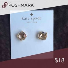Kate Spade Earrings New Kate Spade Earrings   Color: Clear/ Gold Plated   New with tags  PRICE IS FIRM   No trades. kate spade Jewelry Earrings
