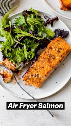 Best Fish Recipes, Salmon Recipes, Seafood Recipes, Cooking Recipes, Healthy Recipes, Air Fryer Dinner Recipes, Air Fryer Recipes Easy, Clean Eating, Healthy Eating