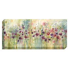 Buy Catherine Stephenson - Spring Floral Pods Print on Canvas, 60 x 135cm Online at johnlewis.com