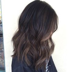 Subtle ashy brown balayage