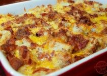 Bacon and egg's in a casserole...yes please.  I added fresh spinach when I made this dish.