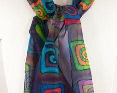 Handmade by SirenSilks Painted Silk, Hand Painted, Painting Workshop, Baby Cartoon, Baby Socks, Silk Painting, Silk Scarves, Color Inspiration, Plaid Scarf