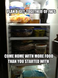 Completely true! And sometimes we come back with food that we didn't go with.