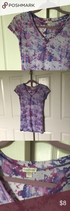 Burnout Tie Dye Top Burnout tie dye v-neck long top. From maurice's, size small Tops Tees - Short Sleeve