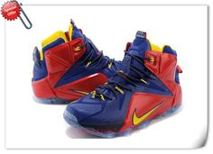 684593-611 Nike Lebron 12 EP Deep Blue/Red/Yellow For Cyber Monday YDK6RL