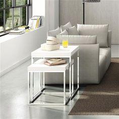 Prairie Marble Nesting Tables, White