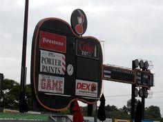 The Nashville Sounds unique guitar scoreboard. (minor league baseball)