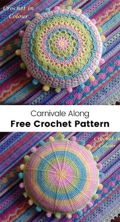 Carnivale Along Free Crochet Pattern #crochet #crafts #homedecor #pillow #style #ideas