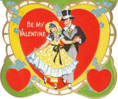 Older vintage Valentine - girl in pantaloons and bonnet.  Looks like a Whitney Made card (usually 1920's - 1930's)