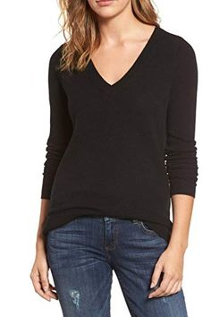 Pink Queen Women's V-Neck Cashmere Wool Blending Ribbed Knit Pullover Sweaters - Findanew Cashmere Wool, Cashmere Sweaters, Pullover Sweaters, Fall Sweaters For Women, French Women Style, Shops, Clothes, Edgy Chic, Long Sleeve