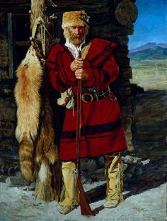 """Mountain Man with Fur Hat"" by Charles Schridde Studios"