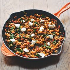 A Warm Pan of Chickpeas, Chorizo, and Chèvre******** recipe on Food52