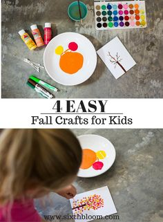 4 Easy Fall Kids Crafts for All Ages, DIY Fall crafts, Thanksgiving Card Craft, Fall craft for Kids, Kids fall craft