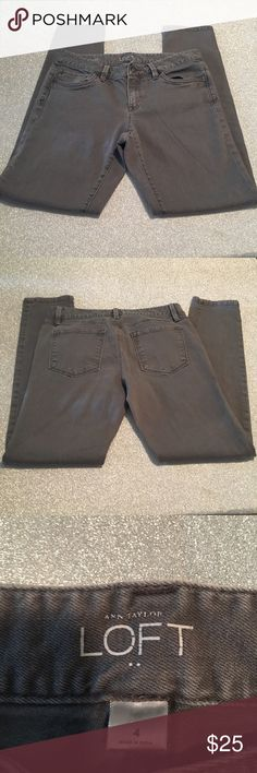 Ann Taylor LOFT | Gray Skinny Jeans These Ann Taylor modern skinny jeans are super comfy! No stains/holes! Good condition! Pair with boots when it's chilly or a pair of sneakers for a more casual look in the summer! LOFT Jeans Skinny