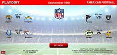 American Football online betting NFL 2nd week bet now!