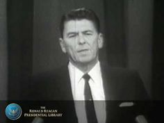 """""""A Time for Choosing"""" by Ronald Reagan - 10/27/64. Remembering President Ronald Reagan.  What President Reagan talked about in this speech 'Rings """"TRUE"""" Today' !!!  *Please Watch & Share!!!  For more information on the ongoing works of President Reagan's Foundation, visit us at http://www.reaganfoundation.org"""