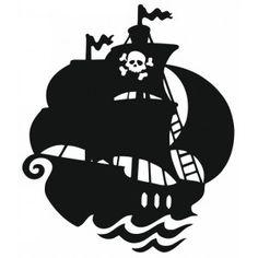 Autocollant Bateau de pirate