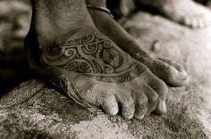 polynesian foot tattoo