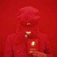 kimiko yoshida, the mao bride (red guard red) self-portrait 2009.
