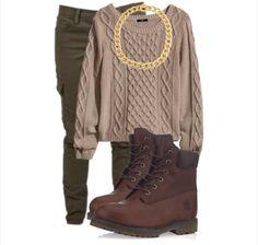 Fall Fashion 2014 #timberland #cargopants #polyvore
