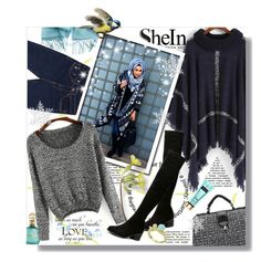 """""""Hijab"""" by sans-moderation ❤ liked on Polyvore featuring moda, Roberto Cavalli, Winter, hijab y shein"""