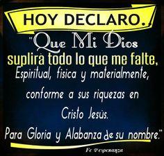 HOy declaro