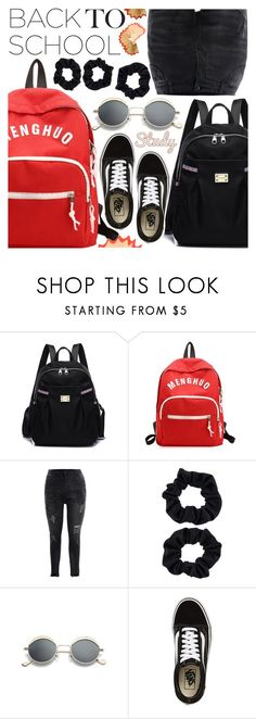 """""""Get Ready For School"""" by pastelneon ❤ liked on Polyvore featuring Accessorize and Vans"""