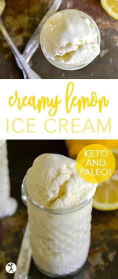 Creamy Lemon Ice Cream :: paleo, keto, GAPS diet option - - Step up your summer dessert game with this easy paleo and keto Creamy Lemon Ice Cream! Full of lemony goodness with an option for GAPS diet. Best Homemade Ice Cream, Paleo Ice Cream, Lemon Ice Cream, Low Carb Ice Cream, Stevia Ice Cream, Ice Cream Diet, Easy Ice Cream Recipe, Banana Ice Cream, Cream Cream
