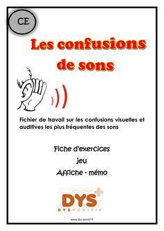 Confusion des sons - Caty Debevre - This French Classroom, Reading Games, French Resources, Trouble, French Lessons, Learn French, Love You More, Speech Therapy, Teaching Kids