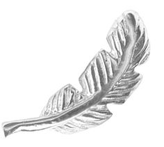 BodySparkle Body Jewelry Silver Feather Cartilage Earring Stud-18g or 16g Feather Barbell Cartilage Jewelry