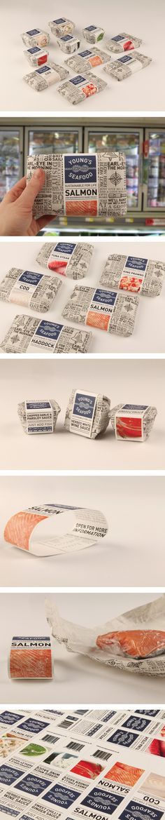 Young's Seafood by Emily Myers, via Behance #packaging #seafood #awesome i love…