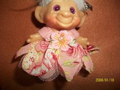 dress for 2-1/2-3 inch troll doll by LastAmericanHippies on Etsy