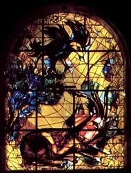 The tribe Naphtali ~ The twelve windows were created by Marc Chagall for the Synagogue of the Hadassah hospital in Jerusalem.  They symbolize the twelve sons of Jacob, which made the twelve tribes of Israel.
