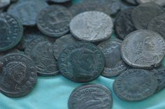 """Authentic Ancient ROMAN bronze Coins Genuine Antique from 240-410 ad    ANCIENT ROMAN COIN  from 240-410 AD    in condition similar to the examples shown in the photos.  A """"must have"""" affordable coin for any collection.  We ship Worldwide.  Item to be shipped 2-3 days after payment received.  Items (could be multiple) will be shipped as Registered letter , shipping & handling    I guarantee that these coins are absolutely genuine! 