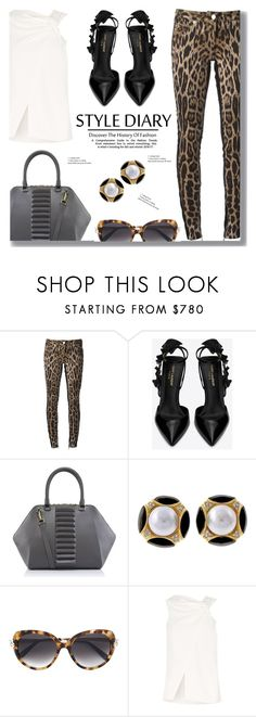 """""""Animal Print"""" by drigomes ❤ liked on Polyvore featuring Roberto Cavalli, Yves Saint Laurent, Kristina George, Cartier and Victoria Beckham"""