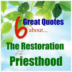 June: These are some GREAT quotes AND QUESTIONS about the Restoration of the Priesthood! They will also apply to June's theme--Priesthood and Priesthood keys. Red Headed Hostess, Young Women Lessons, Lds Scriptures, Doctrine And Covenants, Lds Church, Church Ideas, Wonder Quotes, Scripture Study, Relief Society