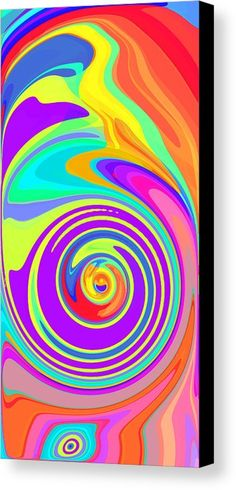 Whirl 5 Canvas Print by Chris Butler.  #art #swirl #abstract #artdeco #design #interior #home #Decor #wall #modern #contemporary #homedecor #abstractart #interiordesign #whirl #wave #vibrant #vivid
