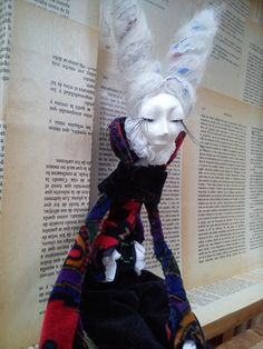 ART doll OOAK dollHANDMADE doll Vintage by VINTARTALTEA on Etsy, $105.00