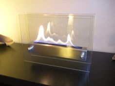 Tabletop Indoor Fireplace - Bio Ethanol Fire Feature on Etsy, $180.00
