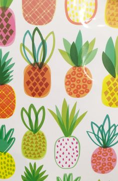 Print & Pattern Blog : Paperchase Pattern Drawing, Pattern Art, Pattern Design, Print Patterns, Dog Pattern, Pineapple Illustration, Fruit Illustration, Cute Wallpapers, Wallpaper Backgrounds