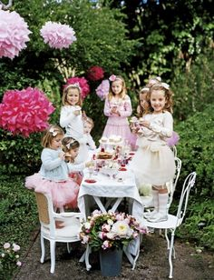 I am in love with the idea of a garden fairy party for my daughter's 3rd birthday! #dollartree