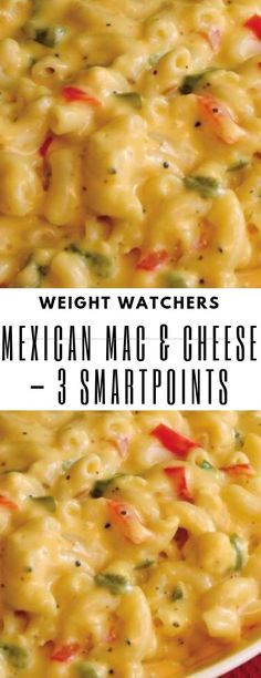 Weight watcher meals 295478425555004435 - Mexican Mac & Cheese – 3 Smartpoints & – Source by Weight Watchers Pasta, Weight Watchers Desserts, Weight Watchers Sides, Weight Watchers Vegetarian, Weight Watcher Dinners, Weight Watcher Recipes, Ww Recipes, Skinny Recipes, Mexican Food Recipes