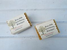 Raw Milk and Honey Shampoo Bar - Handmade cold processed natural shampoo with citrus essential oils
