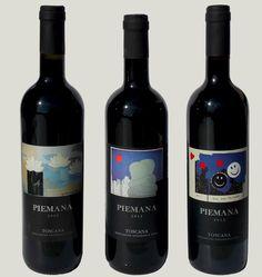 "andrea mattiello Piemana ""wine art collection"" #andreamattiello #artista #artistaemergente #vino #wine #bottiglia #bottle #piemana #etichetta #etichettavino"