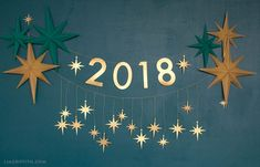 2018 New Year's Eve Garland
